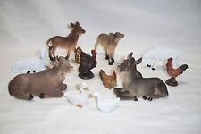 "5"" CHRISTMAS NATIVITY SCENES SET ASSORTED ANIMALS ~ SET OF 11PC."