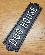 Hierro Fundido Negro montado en la Pared Casa De Perro Placa Para Puerta/Signo de jardín