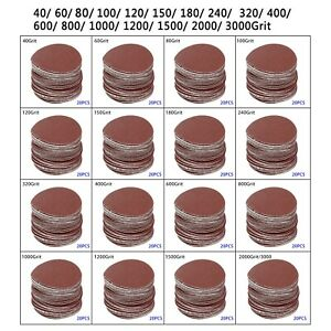 20X/LOT 3/75mm Sander Sanding Discs 40-3000 Mixed Grit Pads Hook&Loop Sandpaper