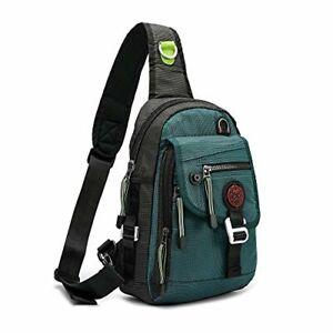 Nicgid Sling Bag Backpack Crossbody For Ipad Tablet Outdoor Hiking(Dark green)