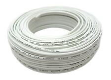 100' FT 16 GA Gauge White Stranded 2 Conductor Speaker Wire Cable Car Home Audio