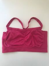 Womens Nylon Magenta Pink Sports Bra Size M
