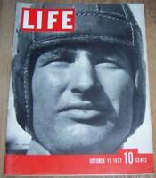Life Magazine October 11, 1937 Football Myrna Loy Dionne Quins Boeing Bombers