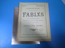 Vintage Cassell's Illustrated Book of Fables La Fontaine #11 - Gustave Dore L989