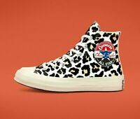 Converse Chuck Taylor All Star 70 High Top White Leopard 166748c size 5.5/7.5