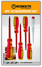 Worksite Wt2111 6pcs Insulated Electrician Screwdriver Set Electrical Hand Tools