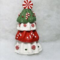 Peppermint Tree Christmas Ornament, Red, White, Green, Candy Canes