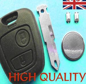 Peugeot 206 2 Button Remote Key Fob Case Repair Refurbishment Kit