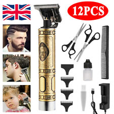 12X Electric Hair Clippers Professional Mens Retro Cordless Trimmer Beard Shaver