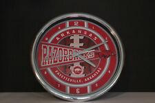 University of Arkansas Razorbacks Football SEC Fayetteville, AR wall Clock