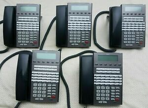 1090021 Qty. 5 NEC DSX 34B BL Display Tel (BK) DX7NA-34BTXBH Phone YEAR Warranty