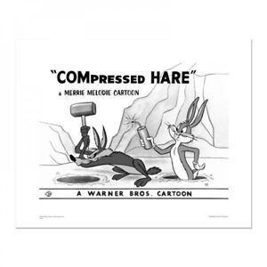 Looney Tunes Cartoon Compressed Hare Mallet Giclée 4/500 Wile Coyote Bugs Bunny