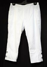 TS pants TAKING SHAPE plus sz XXS / 12 Border Crop Pant white stretch comfy NWT!