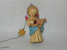 "Vintage ""Angel Playing Mandolin"" Anri Ferrandiz 3"" Toriart Ornament"