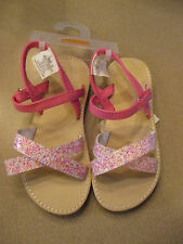 Gymboree Baby Girl Cris/Cross Summer Sandals  Confetti/Pink  Size 10 -  New
