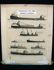 Vessels of the Great Lakes Poster / Painting from Kinley Shogren Water Color