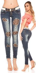 Sexy Women's stretch Skinny Slim Ripped Denim Jeans with Belt
