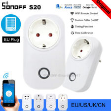 Sonoff S20 WIFI Smart APP Remote Control Timer Socket EU Plug Home Automation