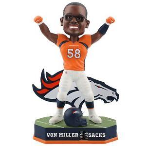 Von Miller Denver Broncos Fantasy Football Sacks Tracker Bobblehead NFL