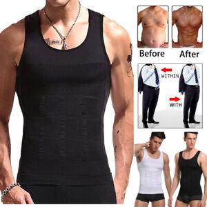 Men's Slimming Body Shaper Vest Shirt Abs Abdomen Slim Chest Compression T-Shirt