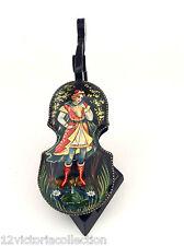 Violin Musical Instrument Russian Frog Princess Lacquer Box Hand Painted Mstera