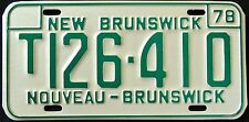"CANADA "" NEW BRUNSWICK NOUVEAU "" 1978 MINT Vintage Classic License Plate"