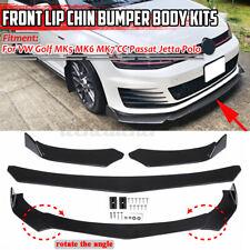 3x Front Bumper Lip Splitter Spoiler Trim For Volkswagen VW Passat Jetta MK4 MK6