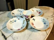 Lenox Butterfly Meadow 4ea Salad/Soup Bowls 7' & 1ea Lbm Bloom Coffee Cup
