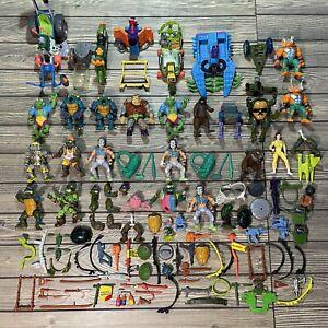 VTG 100+ 90's TMNT Figures Teenage Mutant Ninja Turtles Weapons Accessories Lot