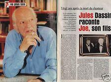 Coupure de presse Clipping 2000 Jules raconte Joe Dassin (3 pages)