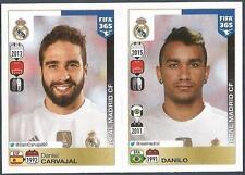 PANINI-2016 FIFA 365- #378-379-REAL MADRID-DANIEL CARVAJAL-DANILO