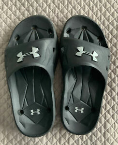 Under Armour Flip Flops  Boys' Black Size 2Y