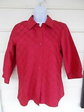 Red Silk Blouse by Coldwater Creek - Size Medium