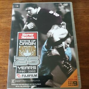 25 Years of State of Origin DVD R4 Like New! FREE POST 1980-2005