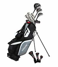 Precise M5 Men's Left Handed 15 Piece Complete Golf Clubs Package Set - 2 Sizes!
