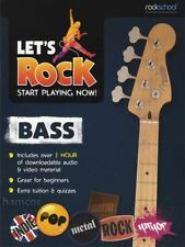 Let's Rock Bass Rockschool Guitar TAB Music Book/Audio & Video Learn How to Play