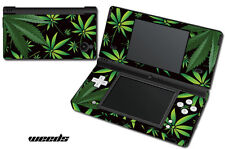 Skin Decal Wrap for Nintendo DSI Gaming Handheld Sticker WEEDS BLACK
