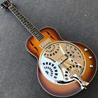 Vintage Sunburst Flame maple top Grote Dobro Resonator Steel Electric Guitar