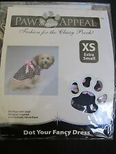 NEW PAW APPEAL DOG/PUPPY PET FASHION POLKA DOT YOUR FANCY DRESS BLUE/PINK XS