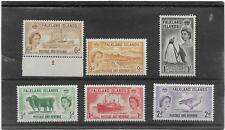 "FALKLAND ISLANDS 1955-7 PICTORIAL SET ""BIRDS,SHIPS,SHEEP"" SG.187-182 L/M/MINT"