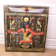 TUTANCHAMUN ÄGYPTEN ÄGYPTISCHES WANDBILD HORUS FALKE SKARABÄUS FIGUR STATUE NEU