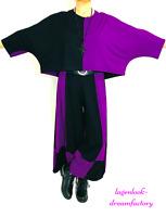 MYO-Lagenlook BIG-Kurz-Überwurf-Shirt-Tunika beere-schwarz 44,46,48,50,52,54
