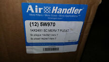 Air Handler 5W970 Pleated Air Filter 14x24x1 Merv 7 Standard Capacity (lot of 8)