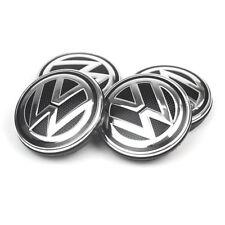 4PC 56mm Wheel Center Hub Caps Cover Logo Badge Emblem Sticker For VW Volkswagen