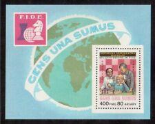 MALAGASY REPUBLIC 1984 SOUVENIR SHEET MINT NH # 696 WORLD CHESS FEDERATION !!