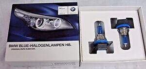 BMW Brand OEM Blue-Halogen Light Bulb H8 Pair Brand New