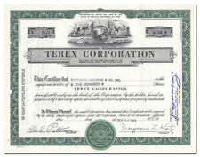 Terex Corporation Certificate (Black Mammoth Consolidated Mines)