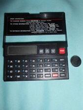 Vtg Black Plastic Mini Electronic Organizer: Clock Telephone Memo Calculator
