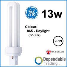 GE 13w Biax D Energiesparende 2-POLIG Tageslicht Lampe G24d-1 F13DBXT4/SPX65/865