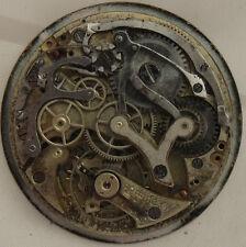Minerva Chronograph Pocket Watch movement & enamel dial 46,2 mm. in diameter